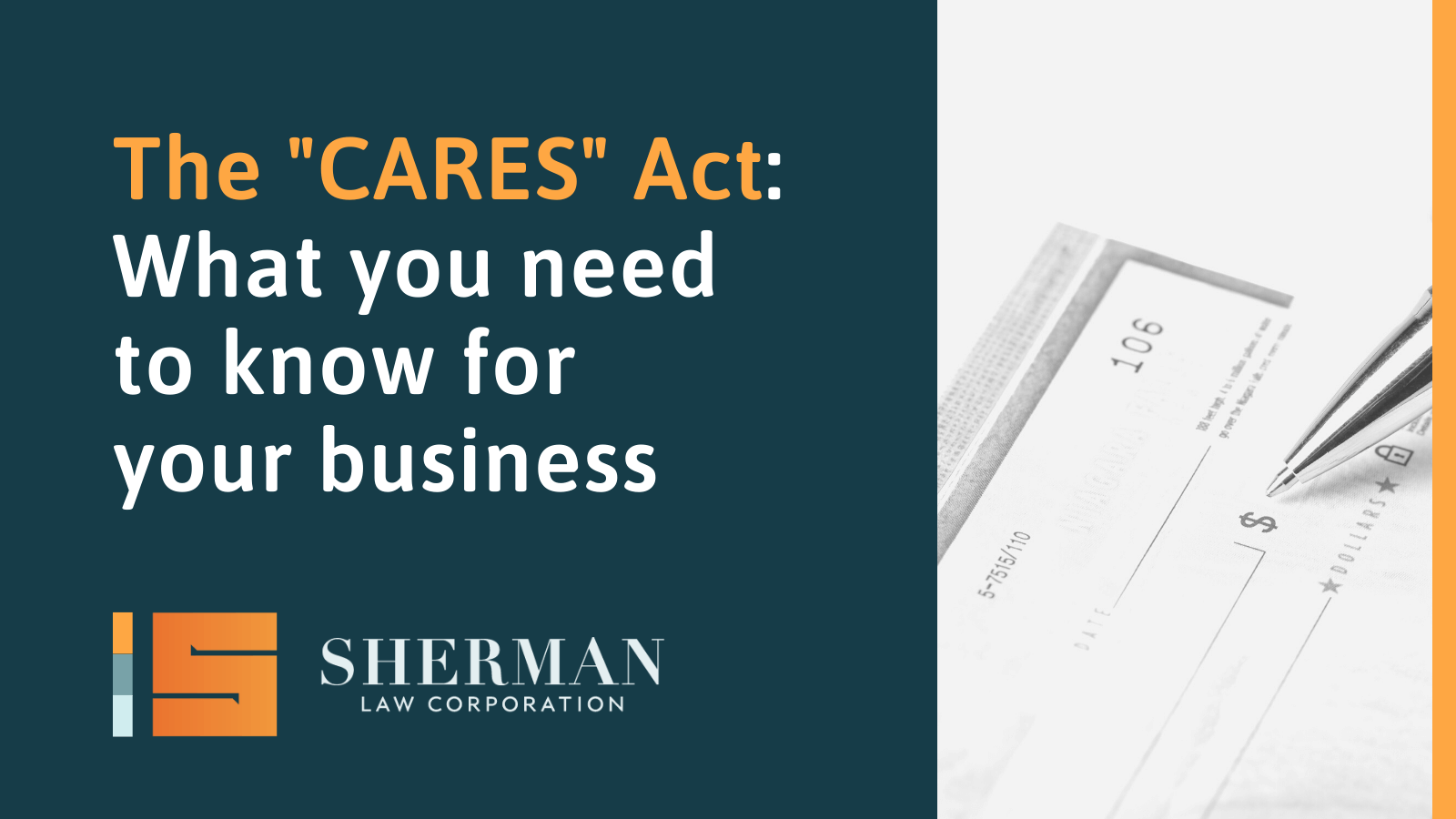 The CARES Act - california employment lawyer - sherman law corporation